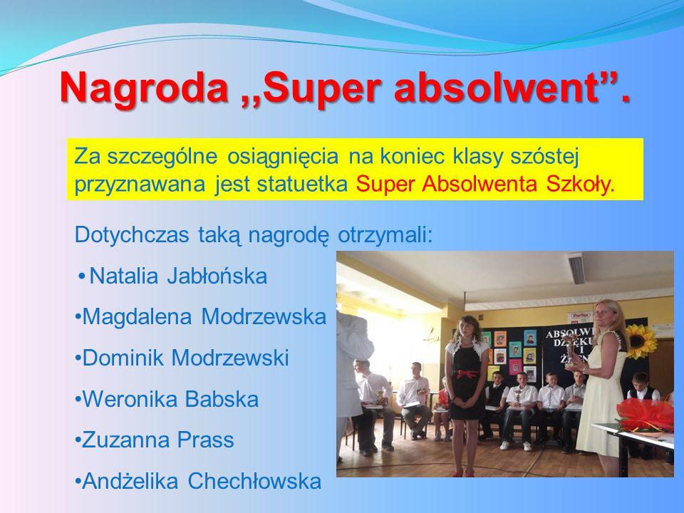Nagroda ,,Super absolwent .