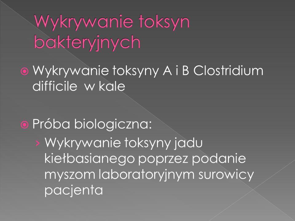 Wykrywanie toksyn bakteryjnych
