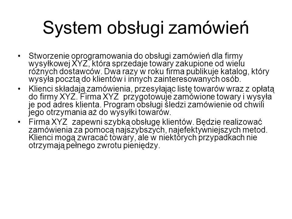 System obsługi zamówień