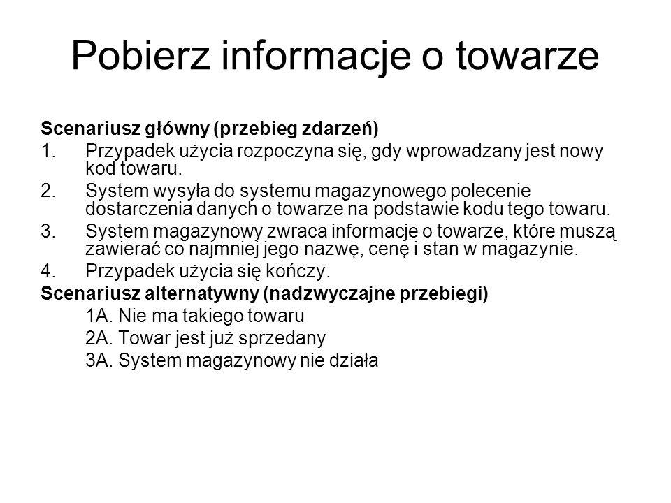 Pobierz informacje o towarze