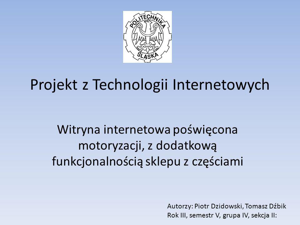 Projekt z Technologii Internetowych