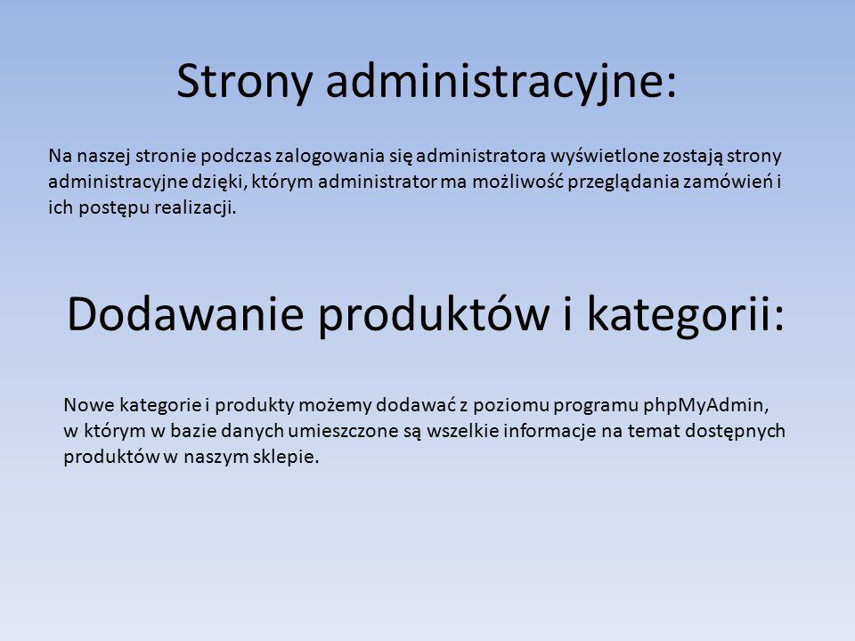 Strony administracyjne: