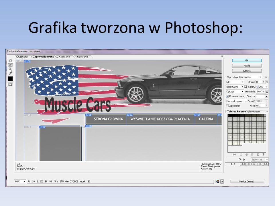 Grafika tworzona w Photoshop: