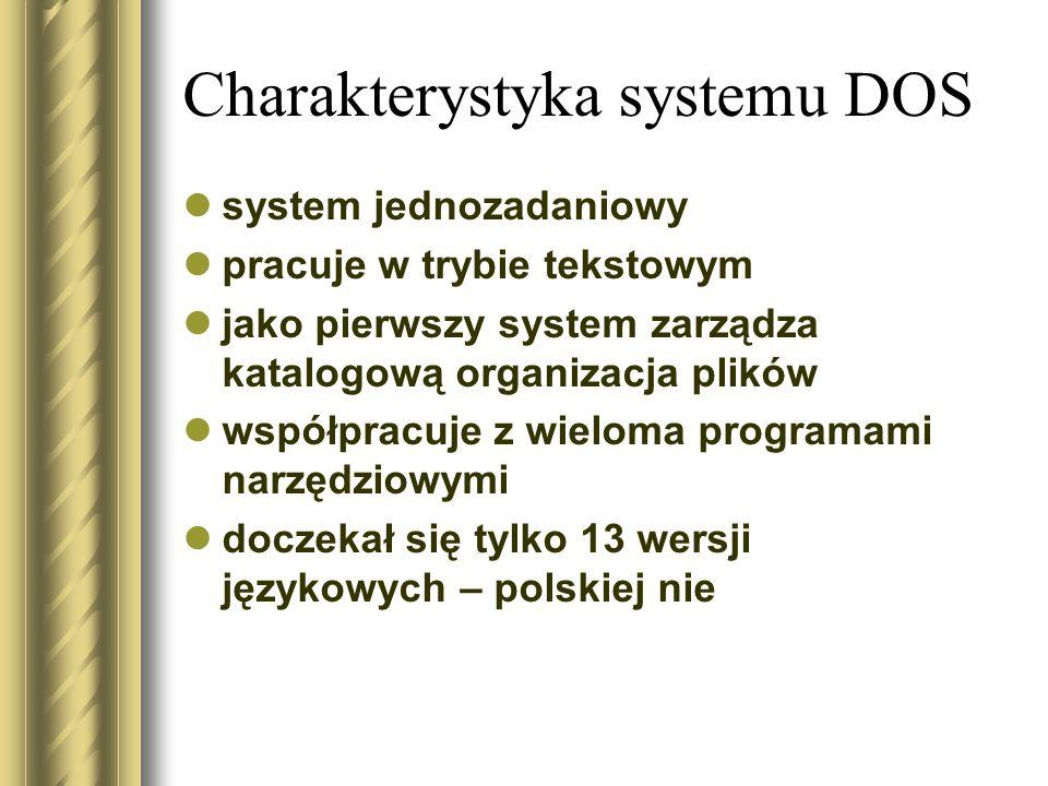 Charakterystyka systemu DOS