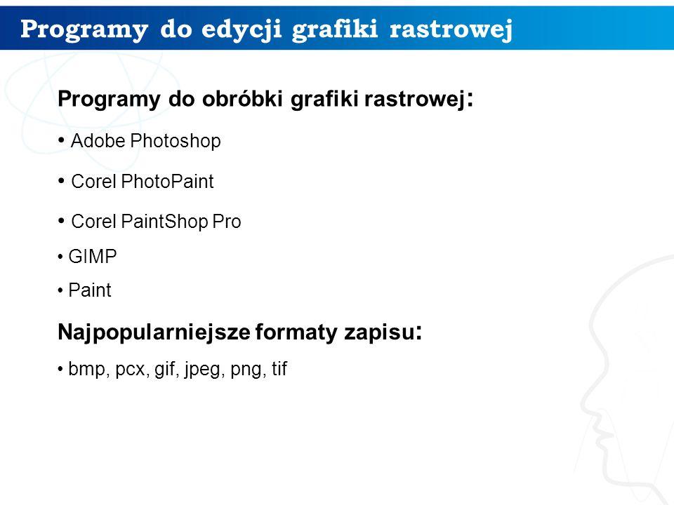 Programy do edycji grafiki rastrowej