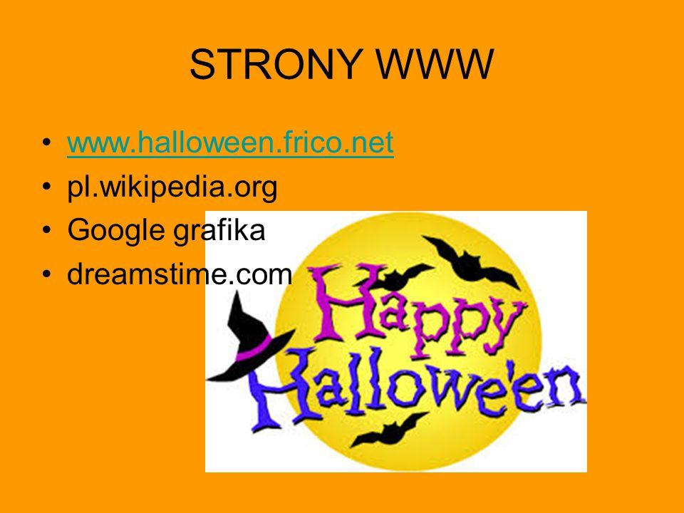 STRONY WWW www.halloween.frico.net pl.wikipedia.org Google grafika