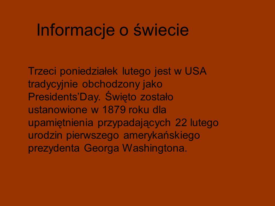 Informacje o świecie