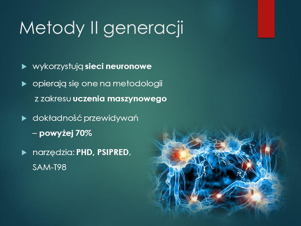 Metody II generacji wykorzystują sieci neuronowe