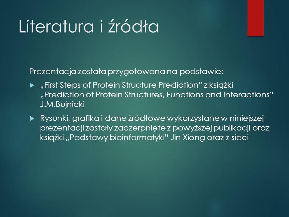 Literatura i źródła Prezentacja została przygotowana na podstawie: