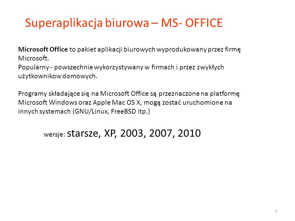 Superaplikacja biurowa – MS- OFFICE