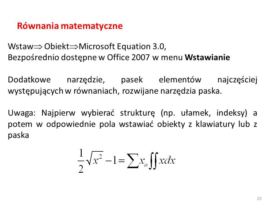 Równania matematyczne