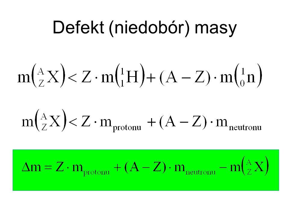 Defekt (niedobór) masy