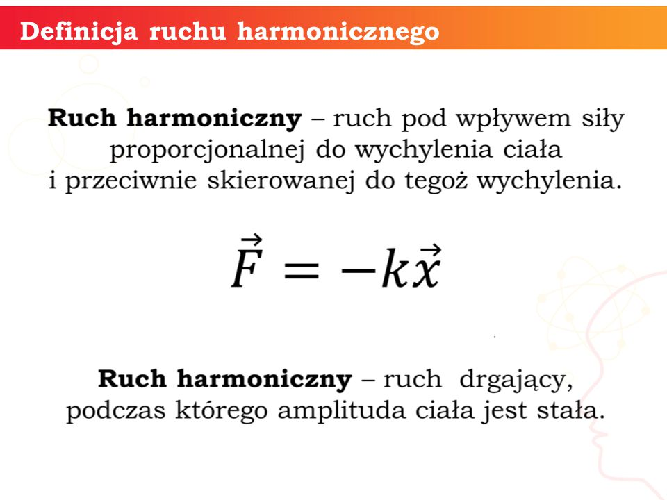 Definicja ruchu harmonicznego
