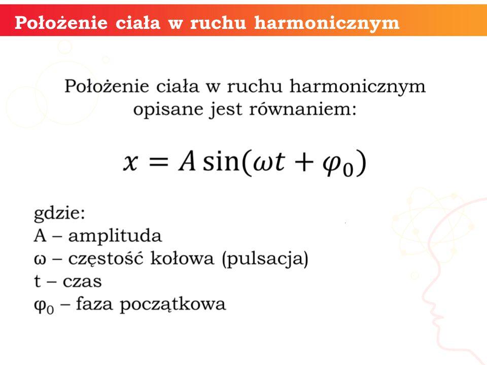 Położenie ciała w ruchu harmonicznym
