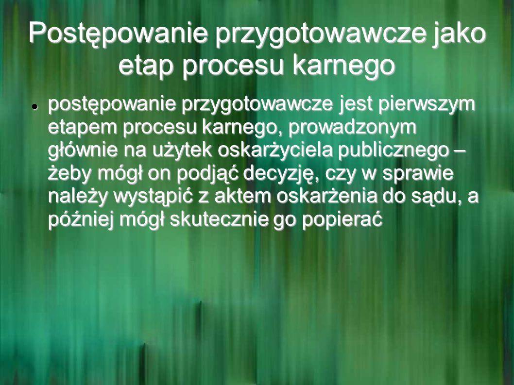 Postępowanie przygotowawcze jako etap procesu karnego