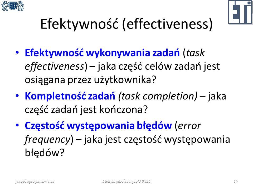 Efektywność (effectiveness)