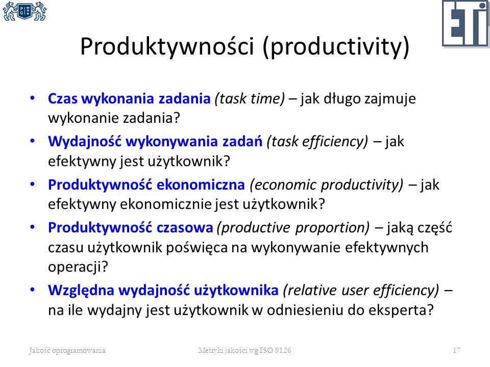 Produktywności (productivity)