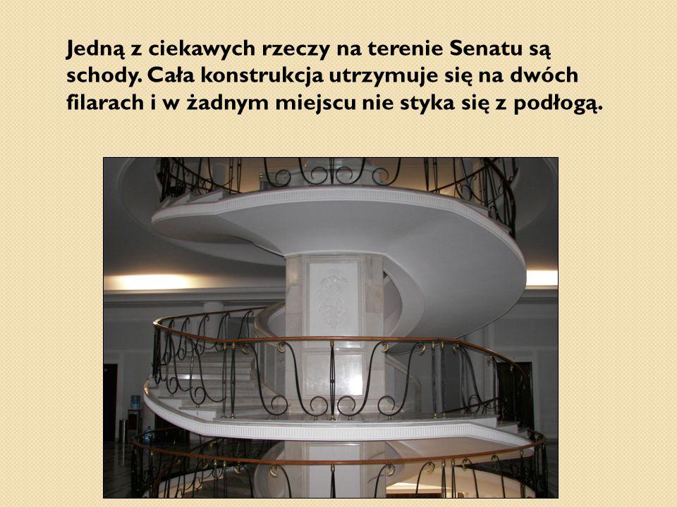 Jedną z ciekawych rzeczy na terenie Senatu są schody