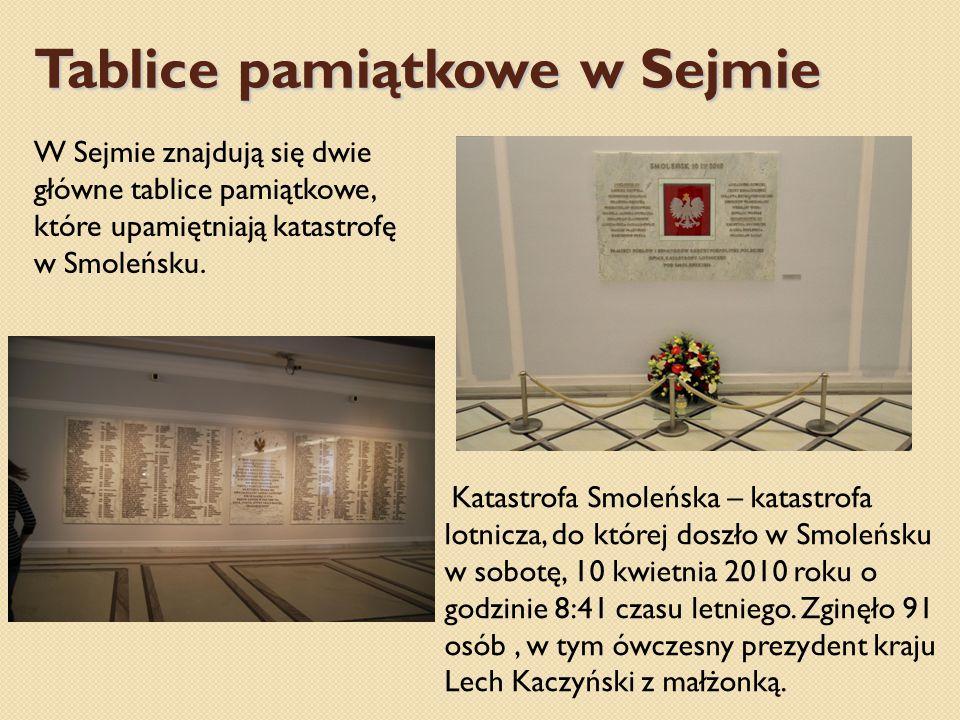 Tablice pamiątkowe w Sejmie