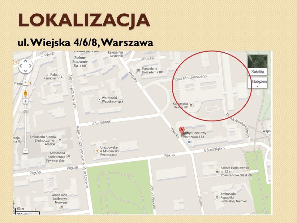 LOKALIZACJA ul. Wiejska 4/6/8, Warszawa