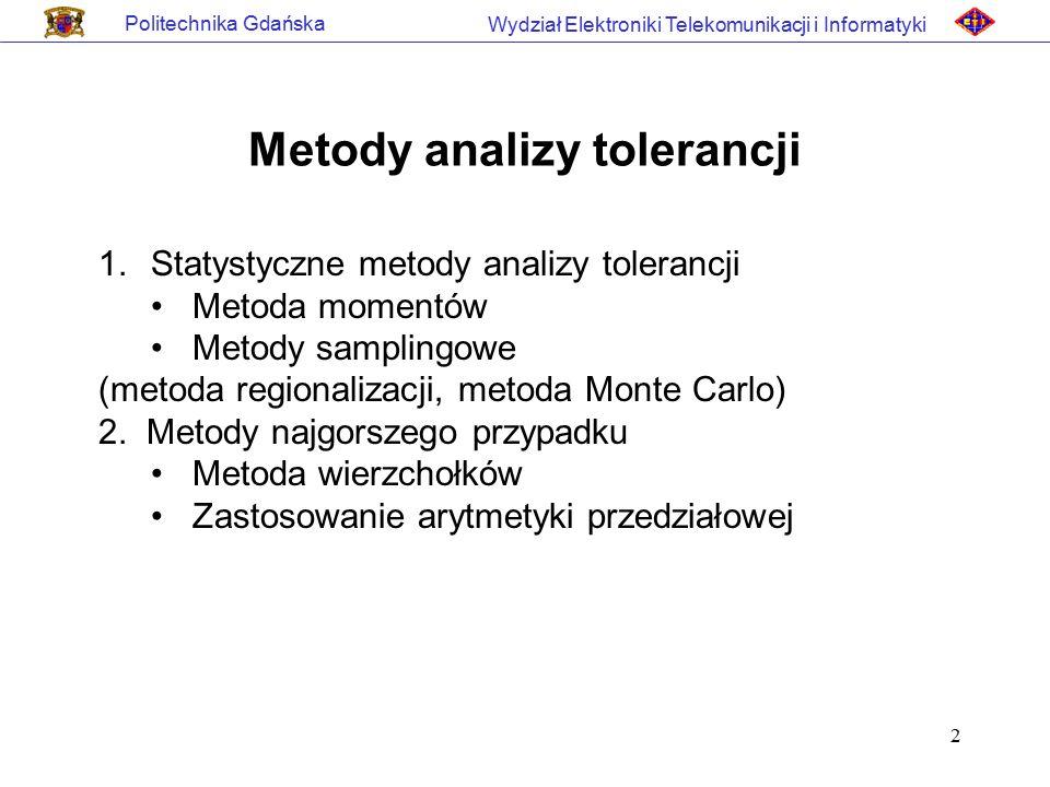 Metody analizy tolerancji