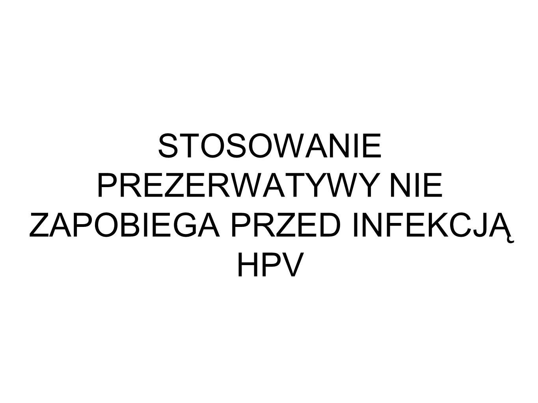 STOSOWANIE PREZERWATYWY NIE ZAPOBIEGA PRZED INFEKCJĄ HPV