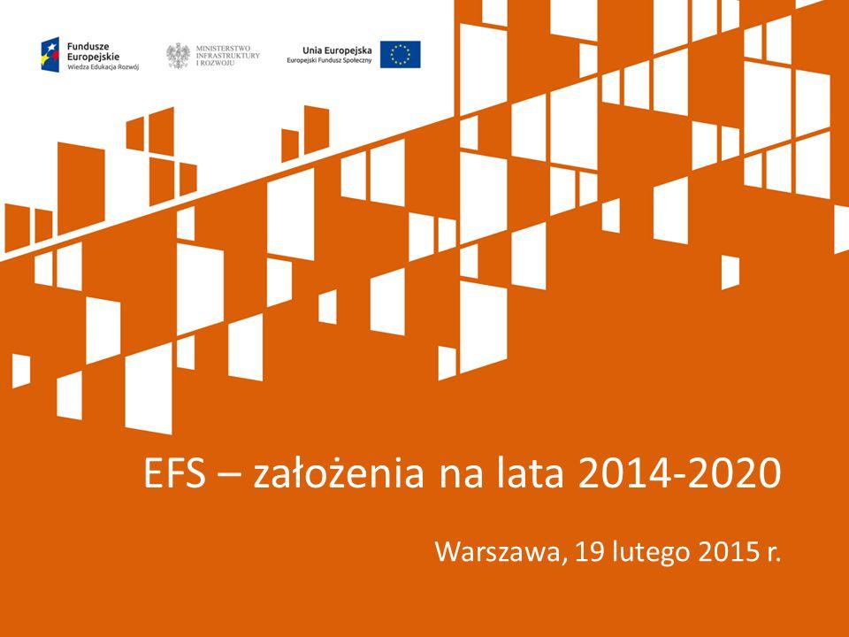 EFS – założenia na lata 2014-2020
