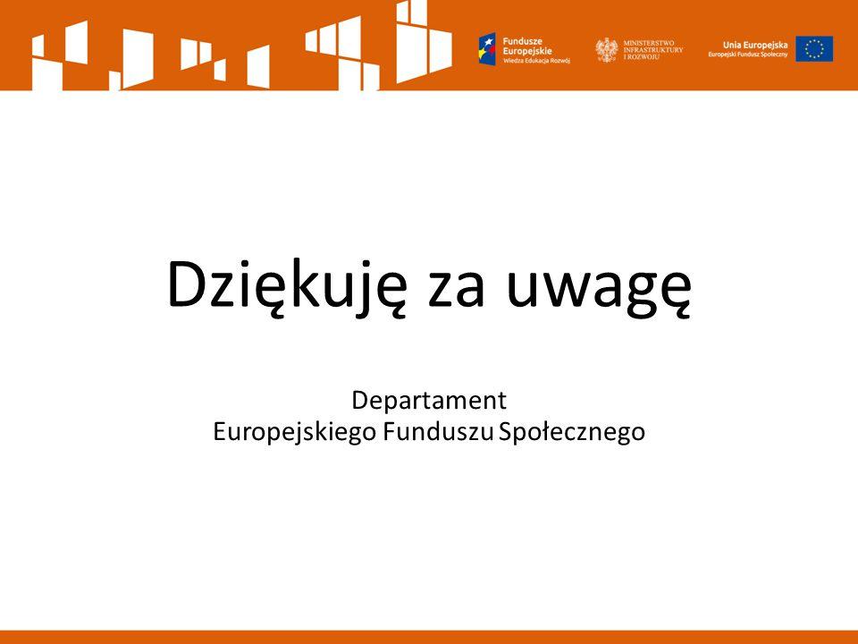 Departament Europejskiego Funduszu Społecznego