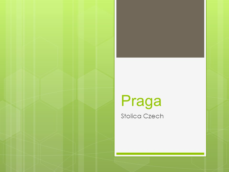 Praga Stolica Czech