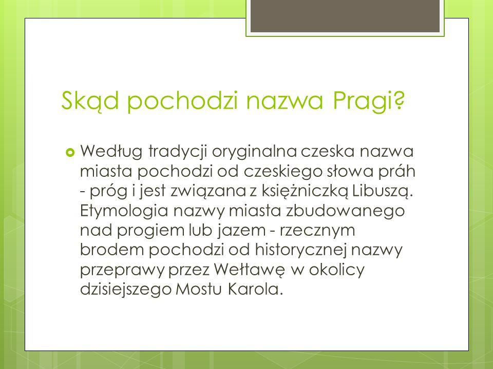 Skąd pochodzi nazwa Pragi