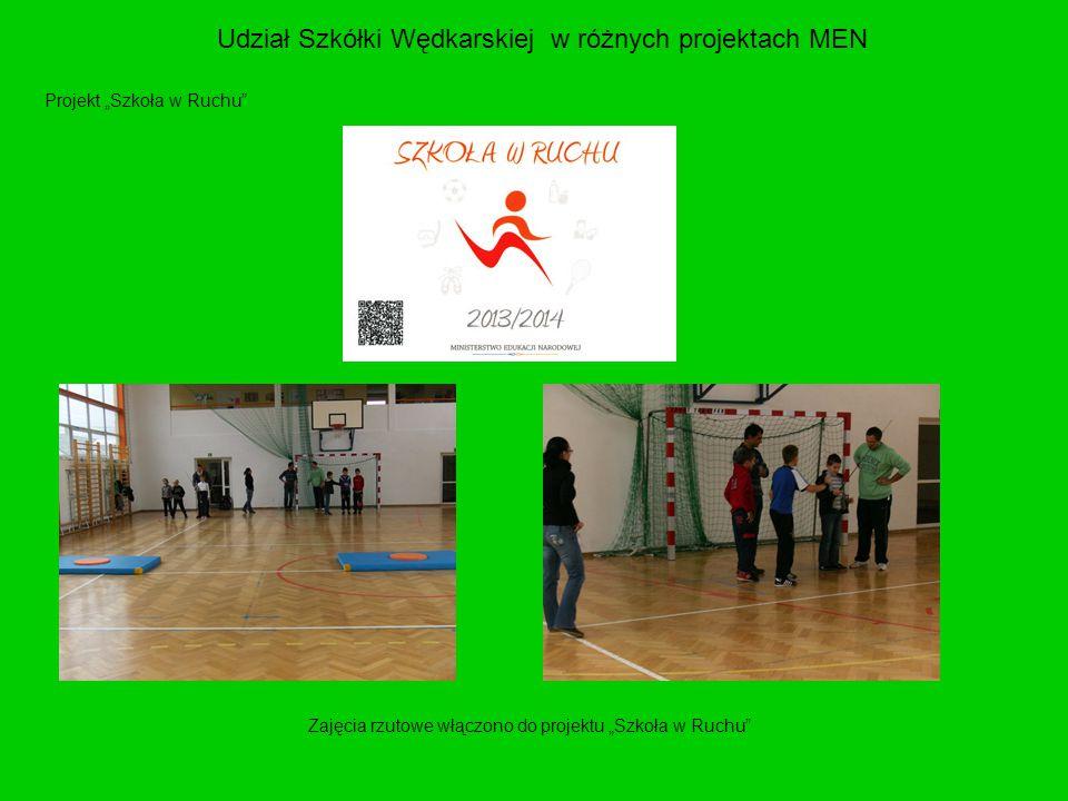 Udział Szkółki Wędkarskiej w różnych projektach MEN