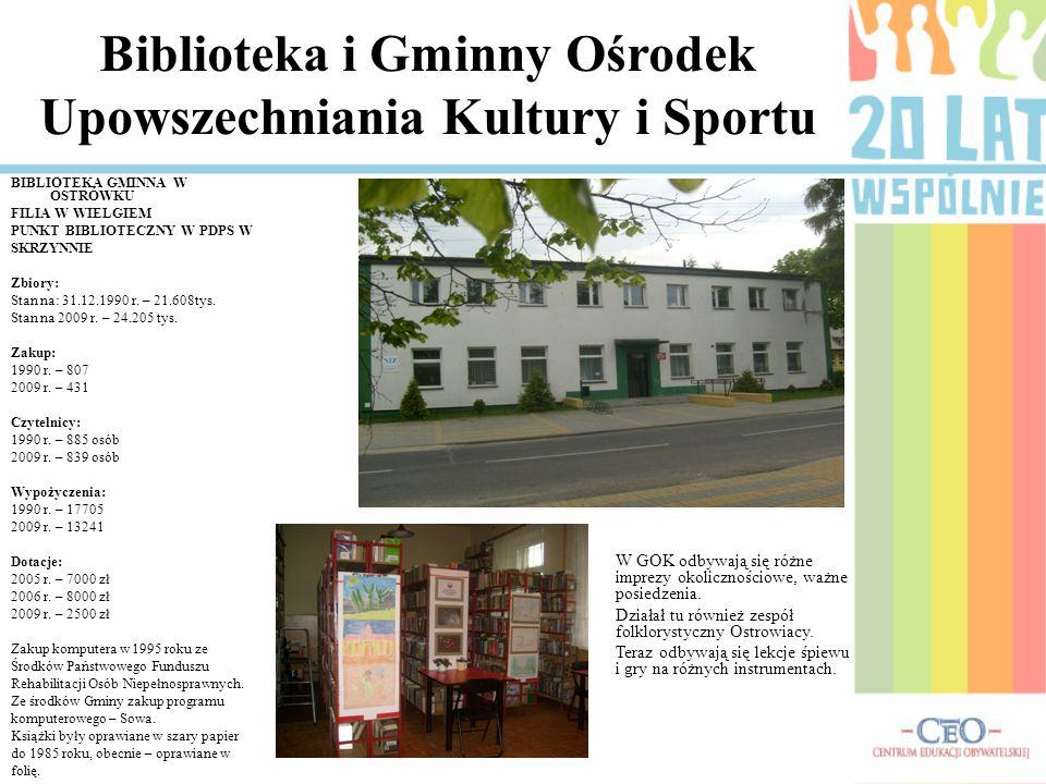Biblioteka i Gminny Ośrodek Upowszechniania Kultury i Sportu