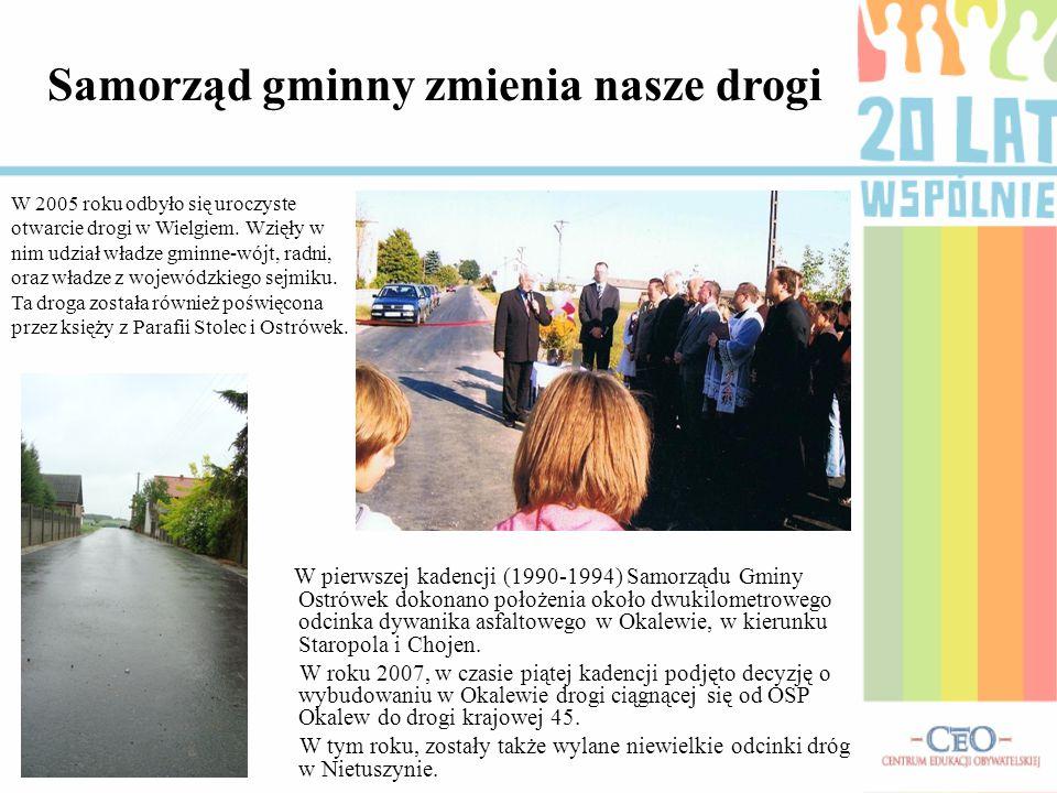 Samorząd gminny zmienia nasze drogi