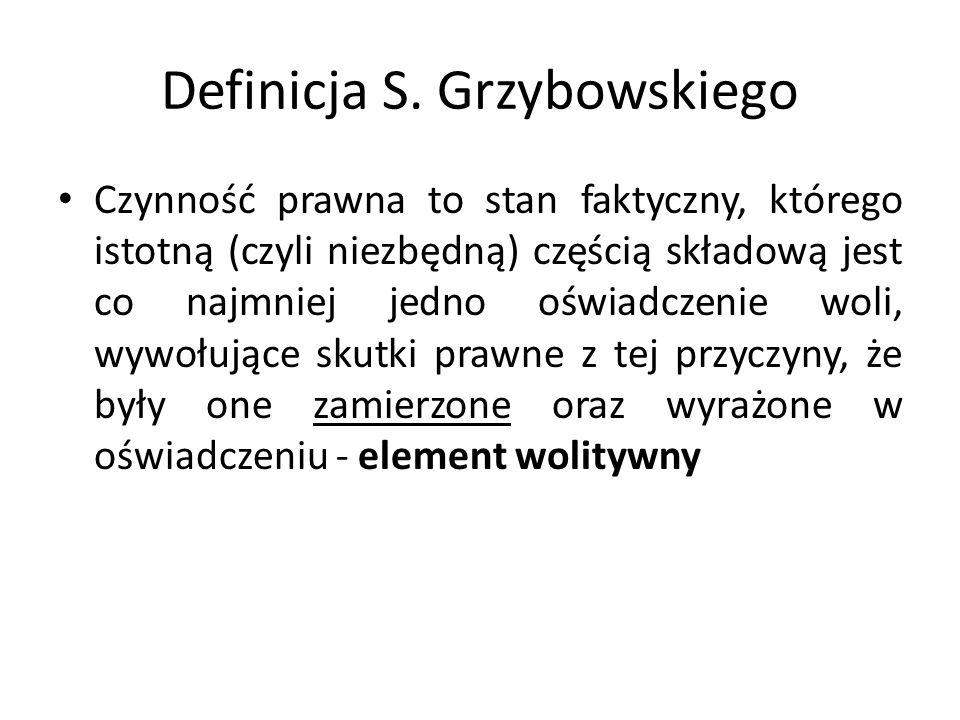Definicja S. Grzybowskiego