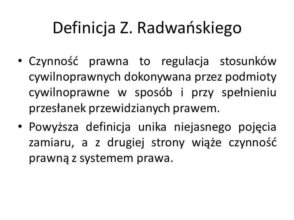Definicja Z. Radwańskiego