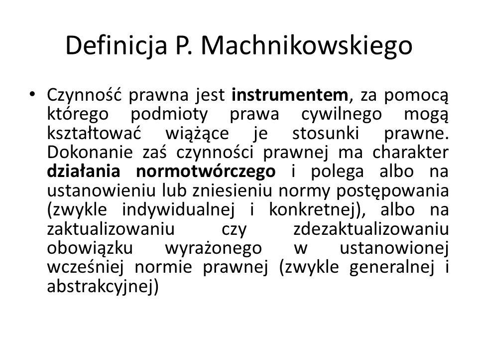 Definicja P. Machnikowskiego