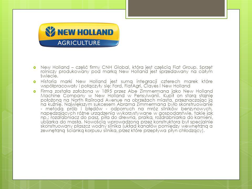 New Holland – część firmy CNH Global, która jest częścią Fiat Group
