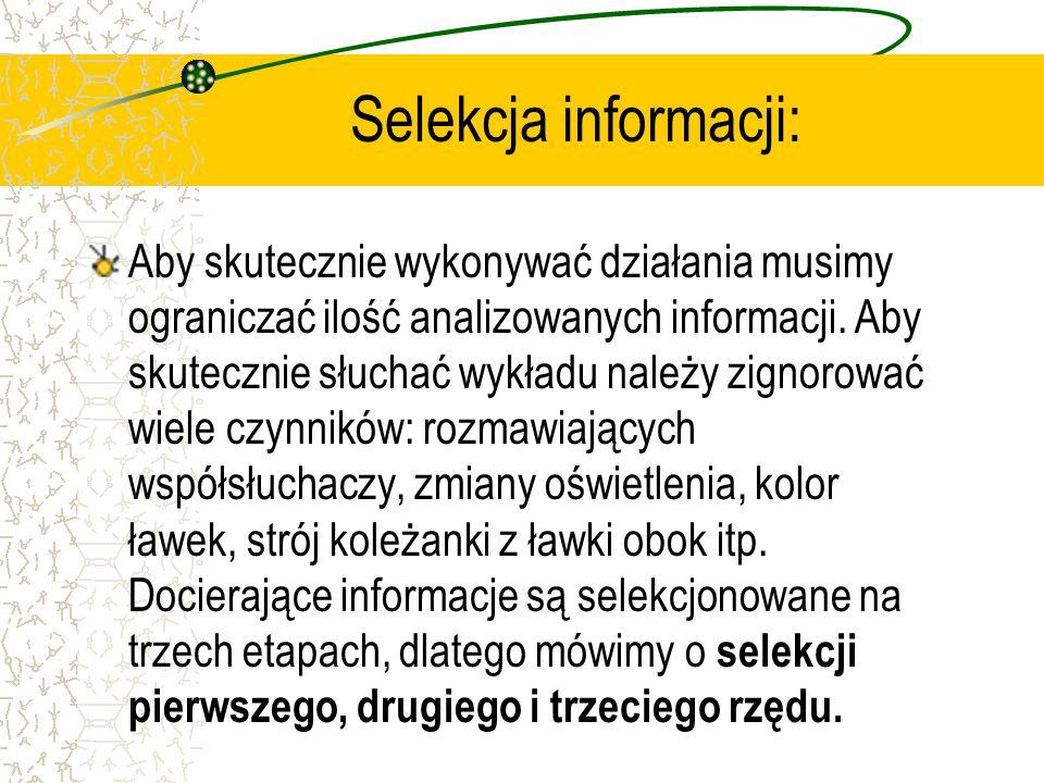 Selekcja informacji: