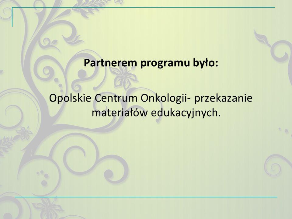 Partnerem programu było: