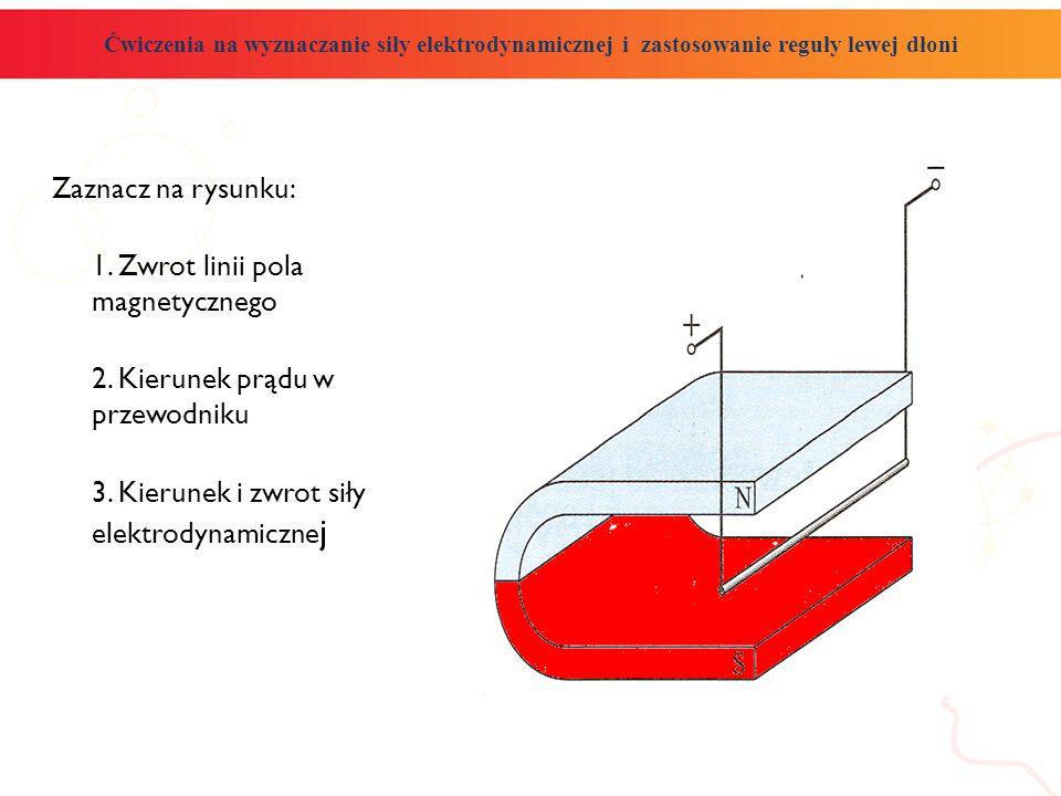 1. Zwrot linii pola magnetycznego