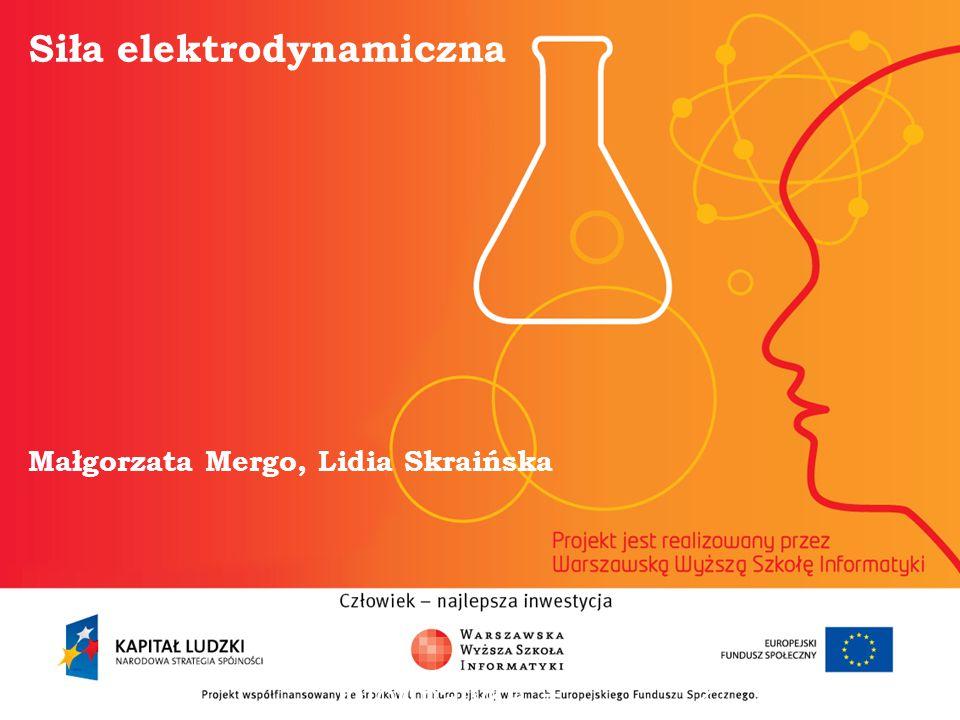 Siła elektrodynamiczna Małgorzata Mergo, Lidia Skraińska