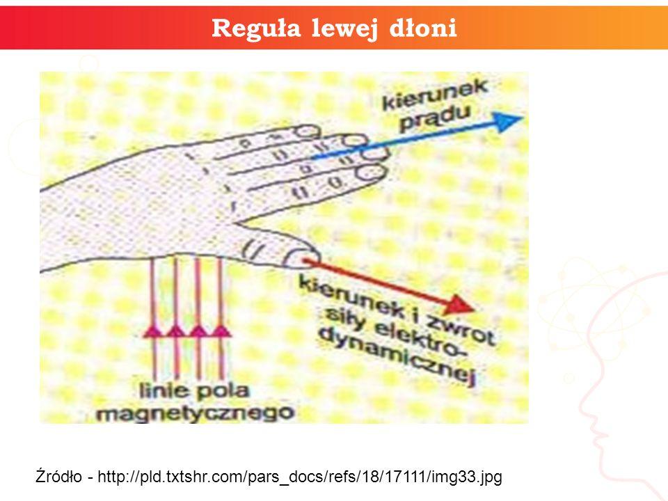 Reguła lewej dłoni Źródło - http://pld.txtshr.com/pars_docs/refs/18/17111/img33.jpg