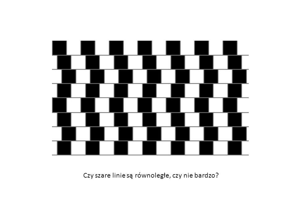 Czy szare linie są równoległe, czy nie bardzo