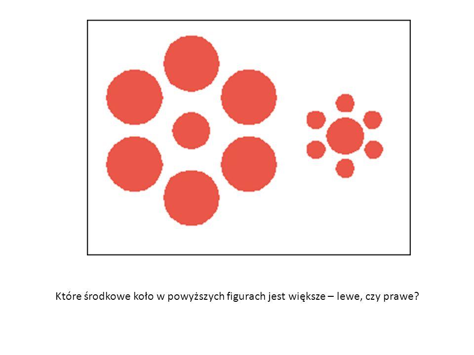 Które środkowe koło w powyższych figurach jest większe – lewe, czy prawe