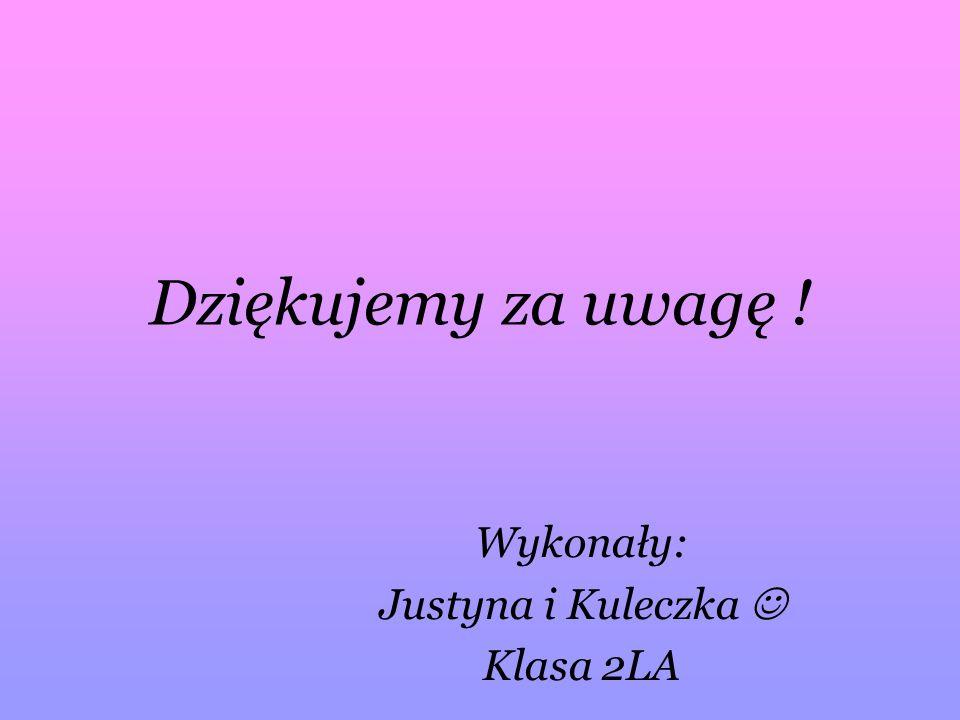 Wykonały: Justyna i Kuleczka  Klasa 2LA
