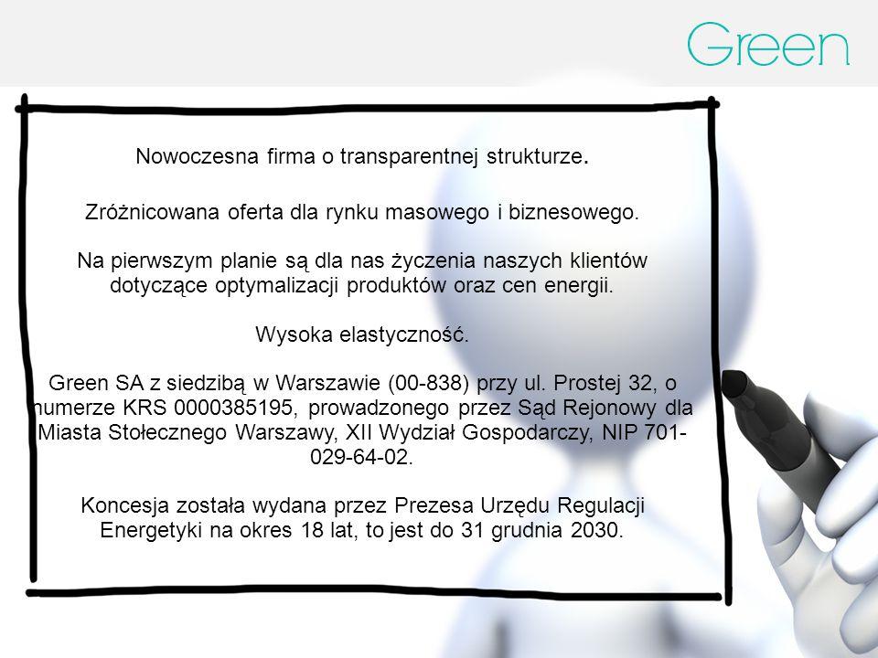 Nowoczesna firma o transparentnej strukturze.