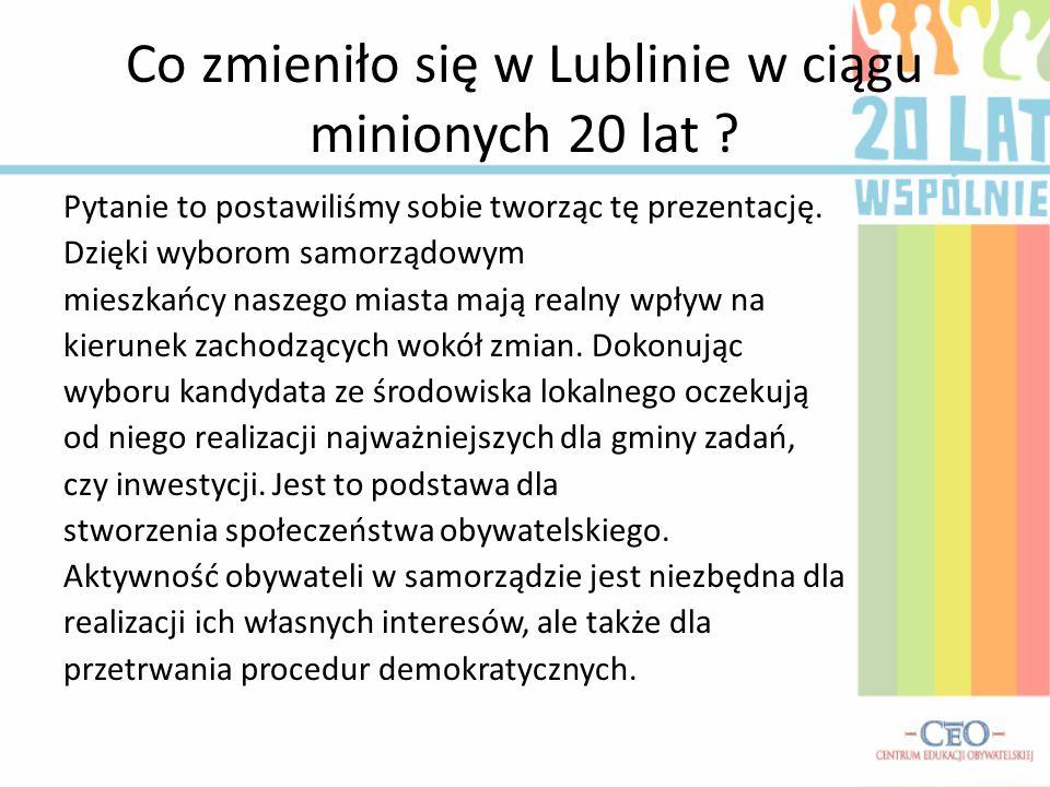 Co zmieniło się w Lublinie w ciągu minionych 20 lat