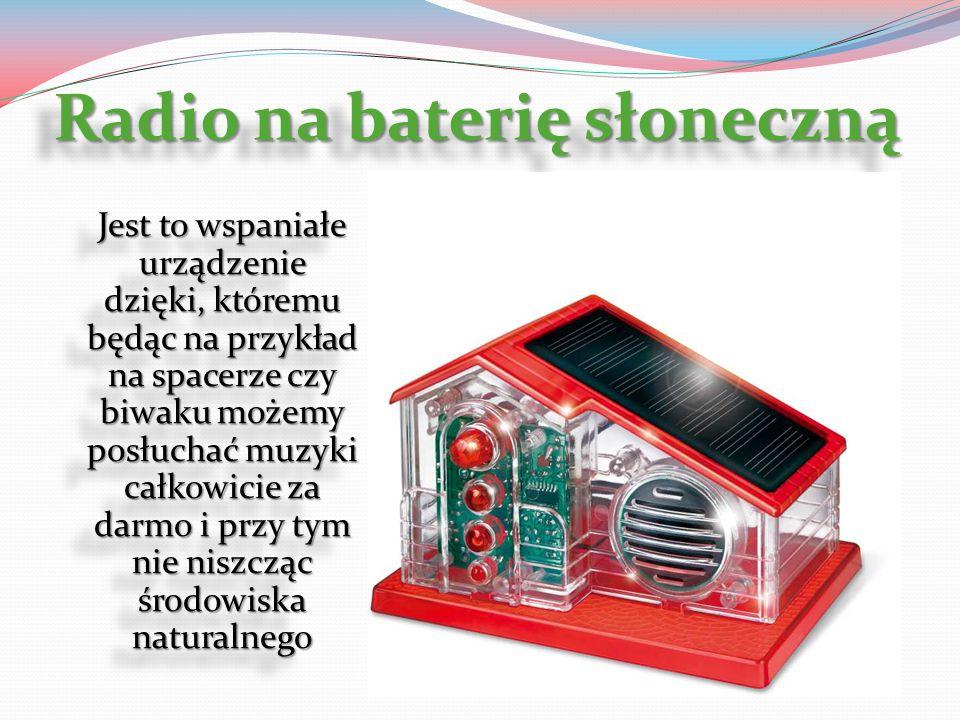 Radio na baterię słoneczną