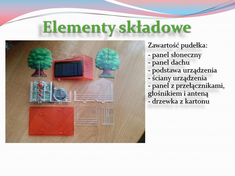 Elementy składowe Zawartość pudełka: