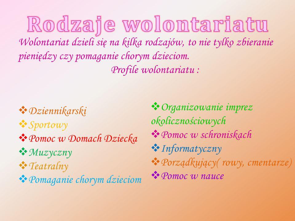 Profile wolontariatu :